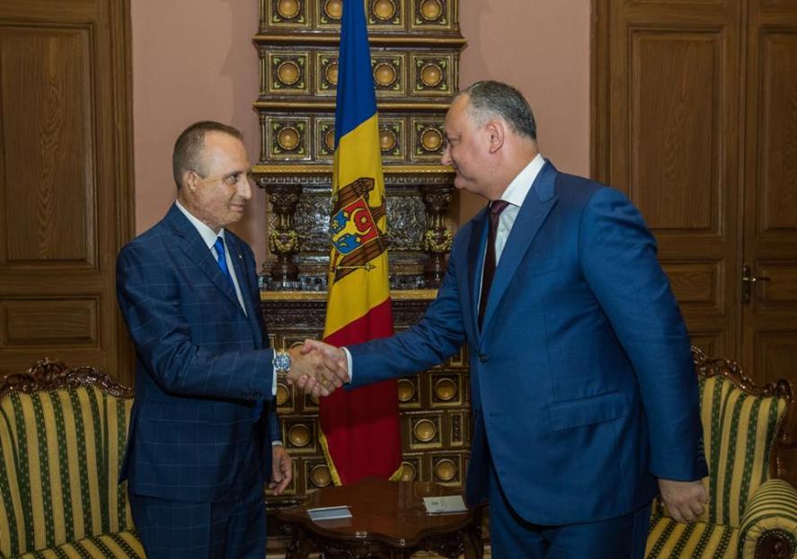 IL PRESIDENTE DELLA REPUBBLICA MOLDOVA INCONTRA I CAVALIERI DI MALTA OSJ