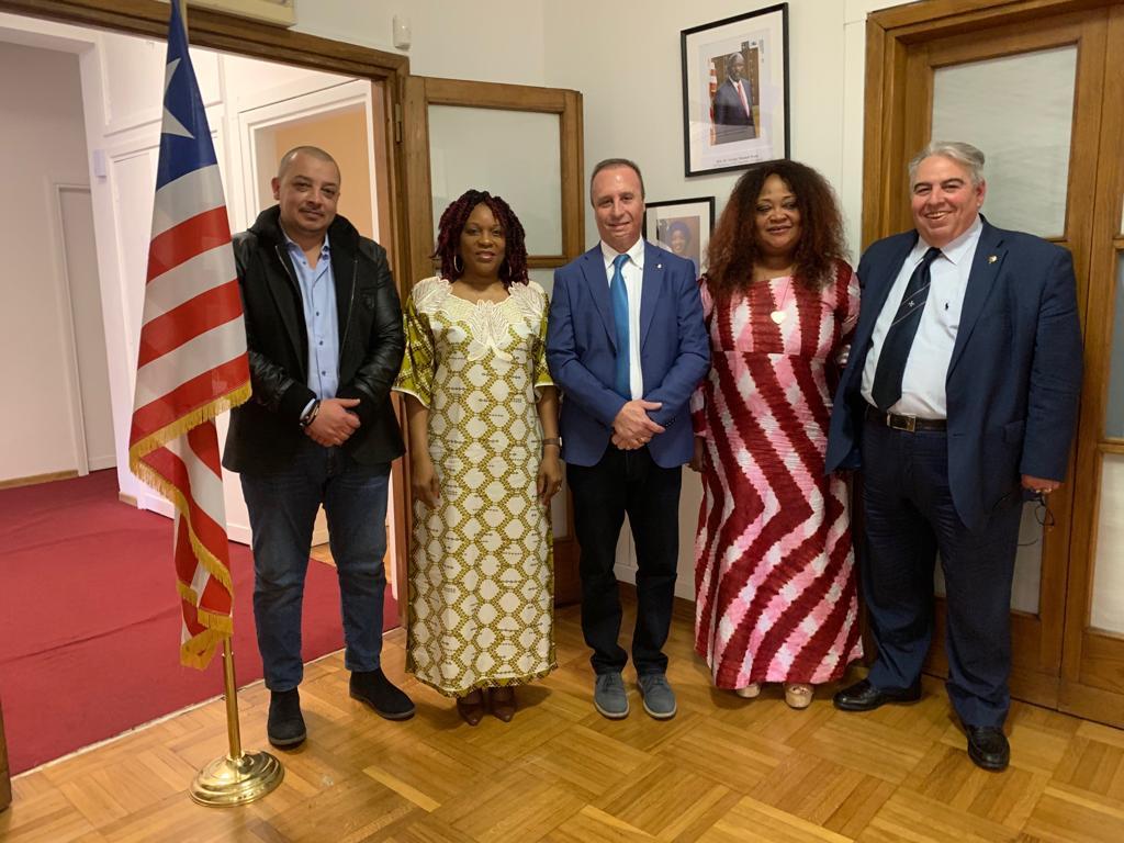 AMBASCIATA DELLA LIBERIA – INCONTRO CON IL PRINCIPE GRAN MAESTRO